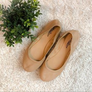Lucky Brand Neutral Leather Flats 7